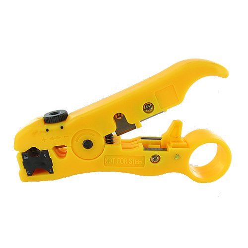 Universal Cutter/Stripper for Flat or Round UTP Cable and Coax Cable