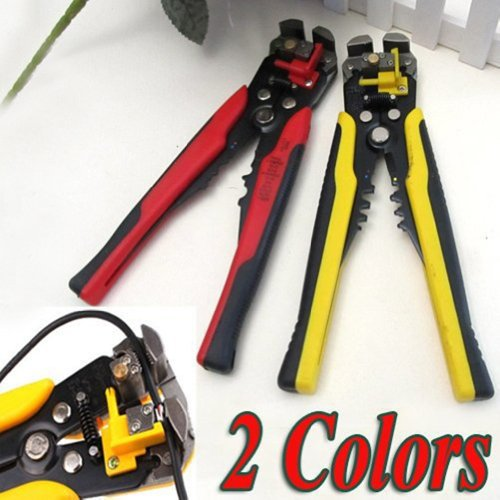 3 in 1 Automatic Cable Wire Stripper Self Adjusting Crimper Terminal Cutter Tool (COLOUR : RED)