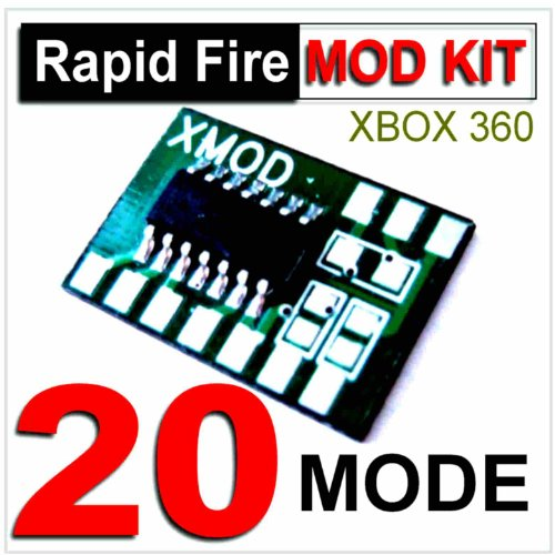 XMOD Rapid Fire MOD KIT 20 MODE, DIY Rapid Fire MOD KIT for XBOX 360 Modded Controller,COD,BLACK OPS-GHOST – ADJUSTABLE, AKIMBO, BURST, JITTER, DROP SHOT