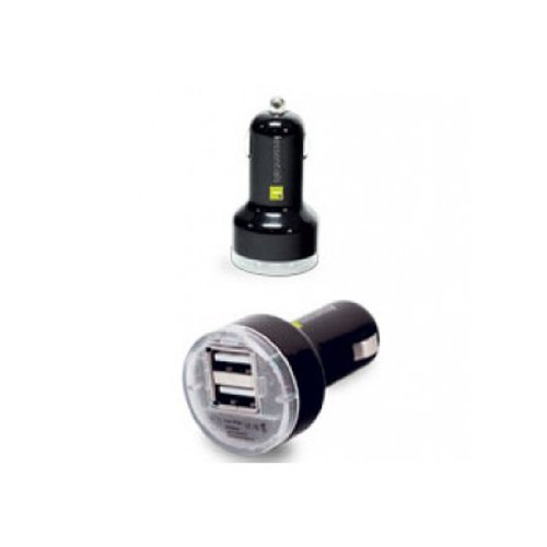 iEssentials IPL-PCP-2U Dual USB Car Charger with 30-Pin Charge/Sync Cable – Retail Packaging – Black