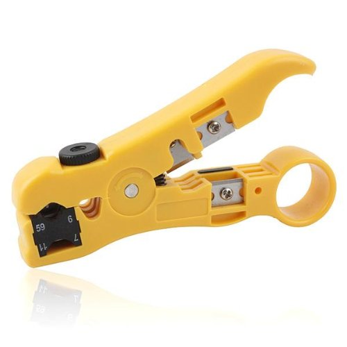 AODE® Universal Cutter Stripper for Flat or Round UTP Cat5 Cat6 Cable Coax Cable Stripping Tool 200359