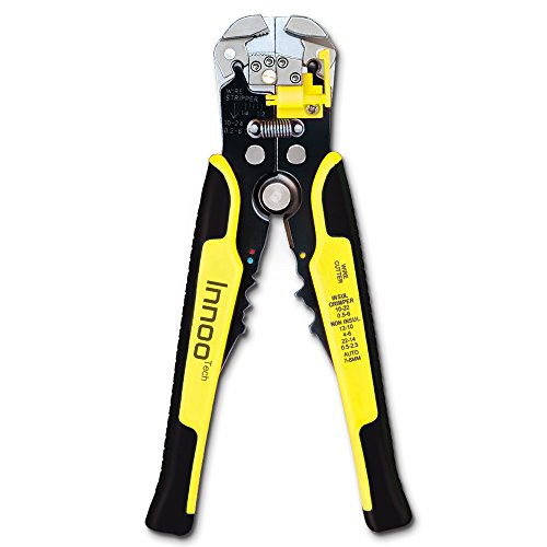 Wire Stripping Tool Self-adjusting cable stripper for Industry 0-22 AWG Stranded Wire Cutting by Innoo Tech