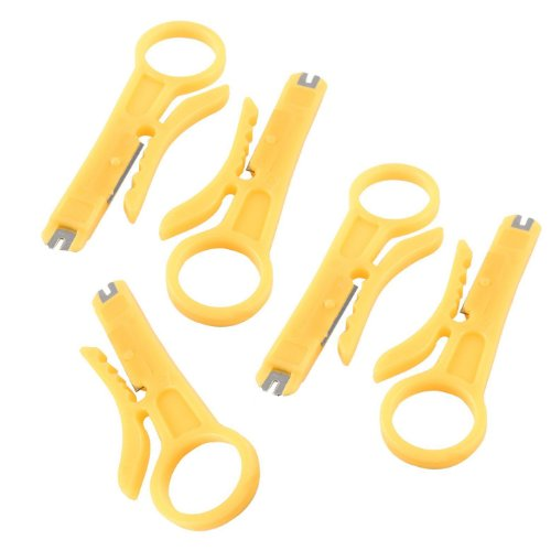 TOOGOO(R) RJ45 Cat5 Network Wire Cable Punch Down Cutter Stripper 5 Pcs