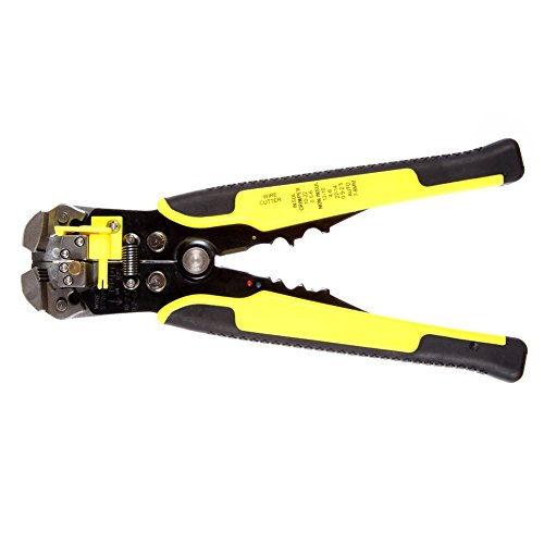 LeaningTech Professional Heavy Duty Self-Adjusting 3-in-1 Automatic Wire Stripper, Cutter and Crimping Tool