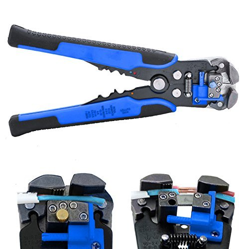 Cheesea Wire Stripping Tool,Automatic Wire/ cable Stripper Crimping Pliers Multifunctional Terminal Tool (Blue)