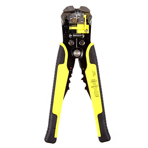D-Mcark Professional Electrical Wire Tool Multi-Purpose Stripper Crimper Cutter Plier Heat Treated Steel with Insulated Air-Cushioned Handles Industrial Self-Adjusting Wire Cutting Stripping Tool