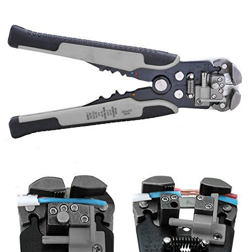Cheesea Wire Stripping Tool,Automatic Wire/ cable Stripper Crimping Pliers Multifunctional Terminal Tool (Grey)