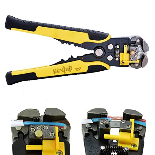 Cheesea Wire Stripping Tool,Automatic Wire/ cable Stripper Crimping Pliers Multifunctional Terminal Tool (Yellow)