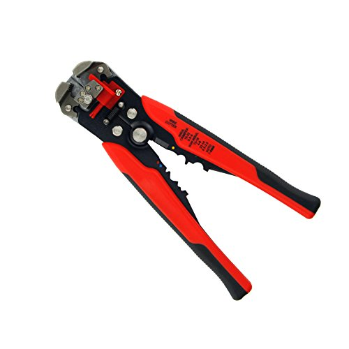 Huluwa Wire Stripper, Self-Adjusting Wire Terminal Crimper, Multifunctional Automatic Wire and Cable Stripper Plier, Wire Stripping Tool, Red