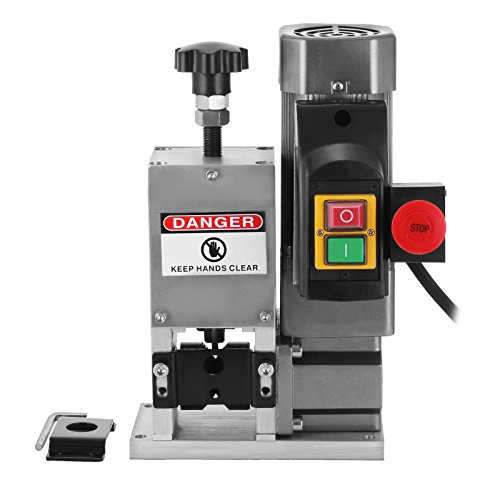 Happybuy Cable Wire Stripping Machine Φ3mm~ 25mmΦ Wire Stripping Machine 1 Blade Wire Stripping Machine Tool Manual Hand Cranked Industrial Wire Stripping Recycle (Electric)